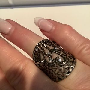 Jewelry - Hematite ring with Austrian Crystals 9